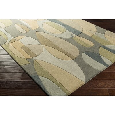 Dewald Hand-Tufted Blue/Green Area Rug Rug Size: Round 4