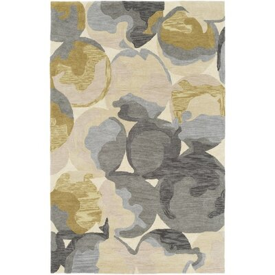 Dittmar Hand-Tufted Rectangle Yellow/Gray Area Rug Rug Size: Rectangle 5 x 76