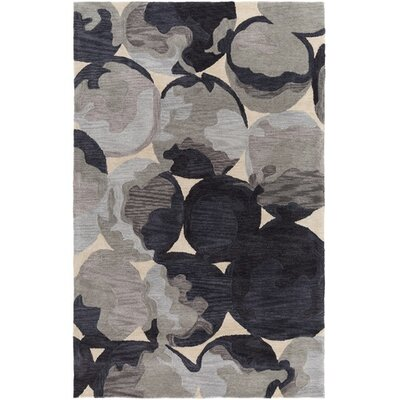 Dittmar Hand-Tufted Yellow/Gray Area Rug Rug Size: Rectangle 5 x 76