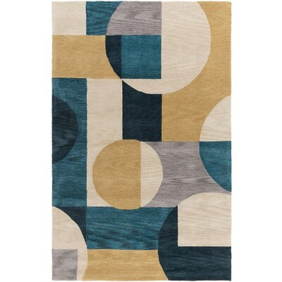 Dittmar Hand-Tufted Blue/Green Area Rug Rug Size: Rectangle 2 x 3