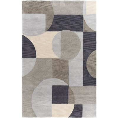 Clare Hand-Tufted Brown Area Rug Rug Size: 2 x 3