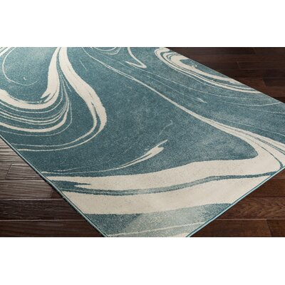 Divernon Blue Abstract Area Rug Rug Size: Rectangle 53 x 76