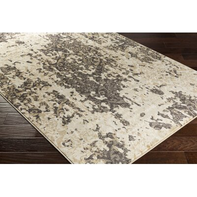 Divernon Beige Abstract Area Rug Rug Size: 53 x 76