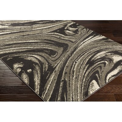 Divernon Gray/Brown Area Rug Rug Size: 53 x 76