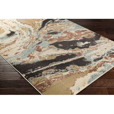 Divernon Neutral Beige Area Rug Rug Size: Rectangle 53 x 76