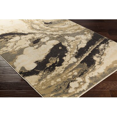 Divernon Beige/GrayArea Rug Rug Size: Rectangle 53 x 76