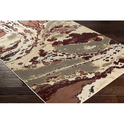 Divernon Neutral Beige Abstract Area Rug Rug Size: Rectangle 710 x 1010