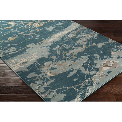 Divernon Blue Area Rug Rug Size: Rectangle 2 x 33