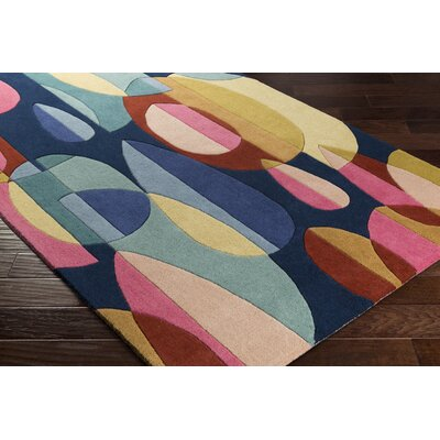 Dewald Hand-Tufted Blue/Beige Area Rug Rug Size: Rectangle 5 x 8