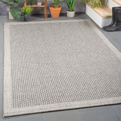 Felipe Charcoal Indoor/Outdoor Area Rug Rug size: Rectangle 76 x 103
