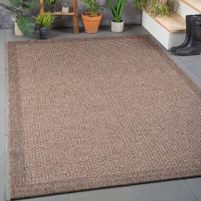 Felipe Mocha Indoor/Outdoor Area Rug Rug size: 76 x 103