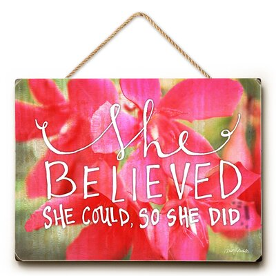 'She Believed She Could' Graphic Art