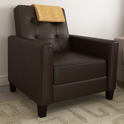 Lowell Manual Recliner Upholstery: Brown