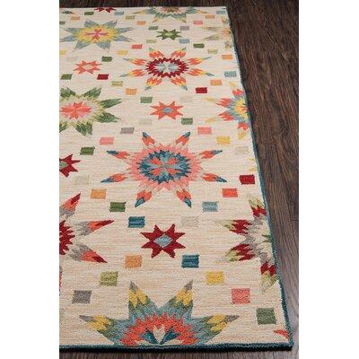Arroyo Ivory/Green Area Rug Rug Size: 8 x 10