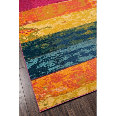 Whitchurch Orange/Blue Area Rug Rug Size: Rectangle 93 x 126