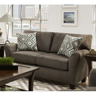 Danny Loveseat Upholstery: Fifth Avenue Charcoal