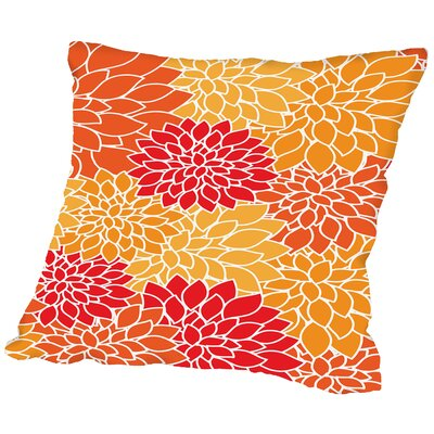 Jose Flower Throw Pillow Size: 16