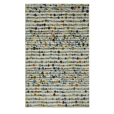 Barba Gray/Cream Area Rug Rug Size: 5 x 8