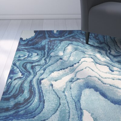 Angeline Blue Area Rug Rug Size: Runner 210 x 710