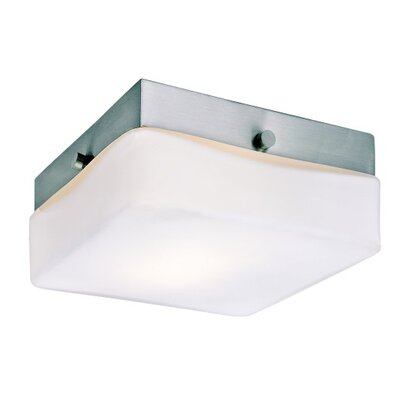 Brooke 1-Light Flush Mount Size: 2.25 H x 5.75 W x 5.75 D