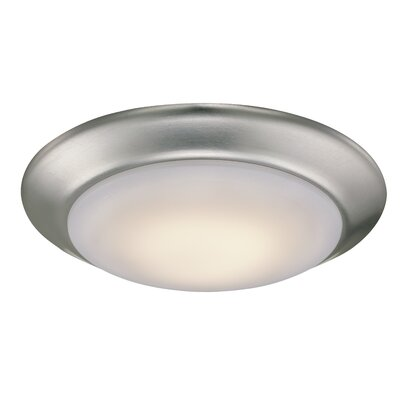 Brookline 1-Light Flush Mount Finish: Brushed Nickel