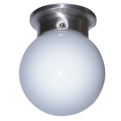 Brooklyn 1-Light Sphere Flush Mount Finish: White