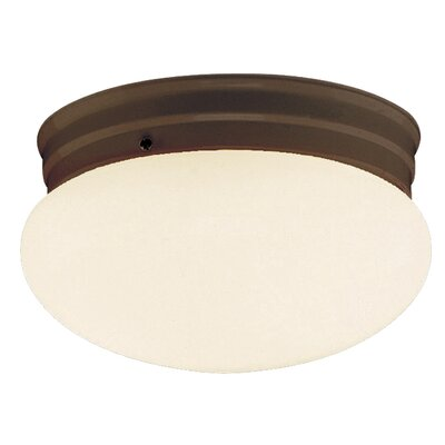 Brooklyn 1-Light Flush Mount Finish: Brushed Nickel, Size: 4.75 H x 8 W x 8 D