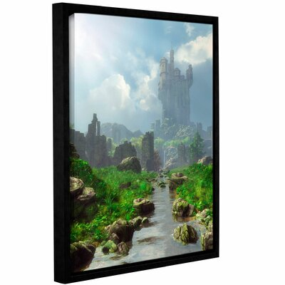 'Distant Castle' Framed Graphic Art on Wrapped Canvas Size: 10