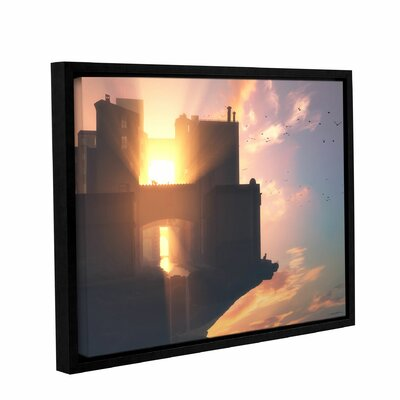 'Last Light' Framed Photographic Print on Wrapped Canvas Size: 14