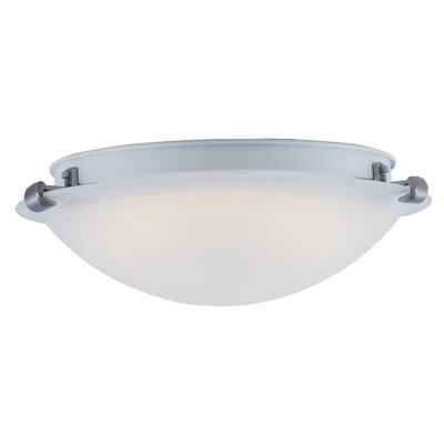 Brenden 1-Light Bowl Shape Flush Mount Size: 5 H x 16 W x 16 D