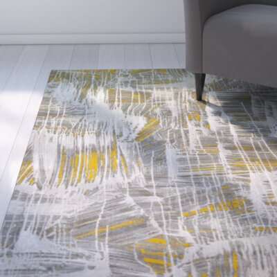 Tricia White/Yellow Area Rug Rug Size: 311 x 52