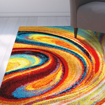 Peyton Multi-Colored Area Rug Rug Size: 33 x 43