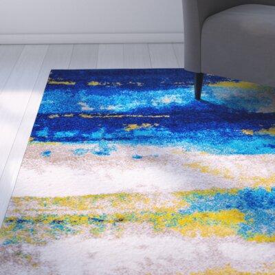 Greta Blue Area Rug Rug Size: 28 x 48
