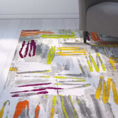 Tricia Gray Area Rug Rug Size: 52 x 72