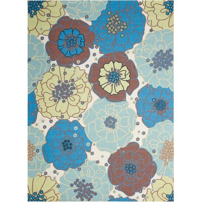 Avis Blue Indoor/Outdoor Area Rug Rug Size: 43 x 63