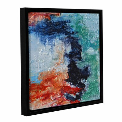 'Shoreline' Framed Painting Print on Wrapped Canvas Size: 14
