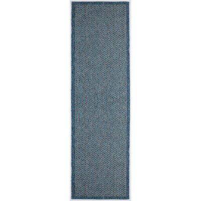 Felipe Denim Indoor/Outdoor Area Rug Rug size: Runner 26 x 73