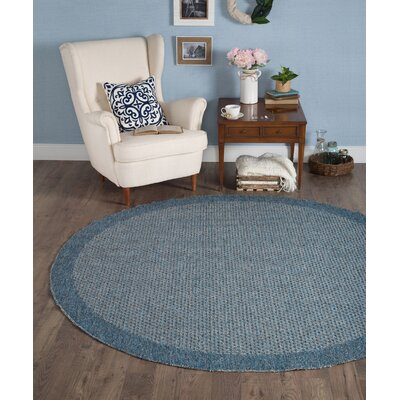 Felipe Denim Indoor/Outdoor Area Rug Rug size: Round 76