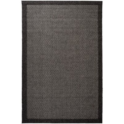 Felipe Black Indoor/Outdoor Area Rug Rug size: Runner 26 x 73