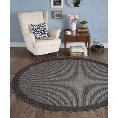 Felipe Black Indoor/Outdoor Area Rug Rug size: Round 76