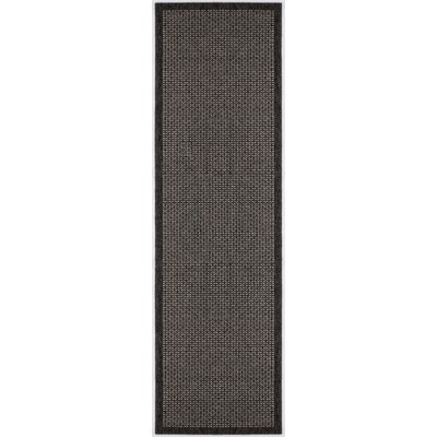 Felipe Black Indoor/Outdoor Area Rug Rug size: Runner 26 x 11