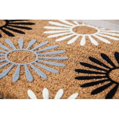 Adams Trail Geometric Flocked Coir Doormat