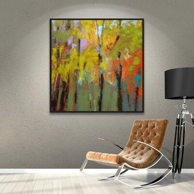 """Trees Three Framed Painting Print Size: 14"""" H x 14"""" W x 2"""" D ZIPC2783 27801628"""