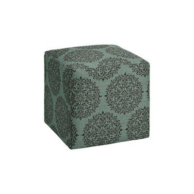 Dorothea Cube Ottoman Upholstery: Teal