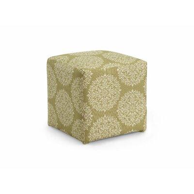 Dorothea Cube Ottoman Upholstery: Moss
