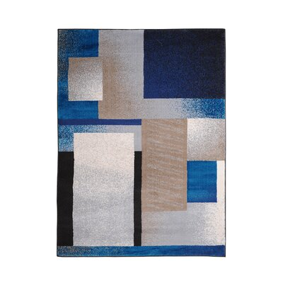 Acker Blue Area Rug Rug Size: 710 x 106