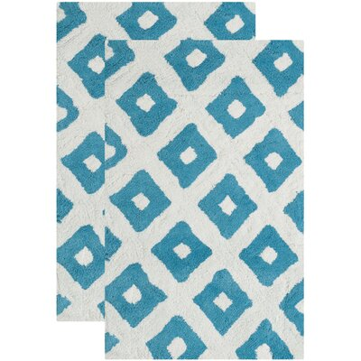 Clement Hand-Tufted Arizona Blue Area Rug