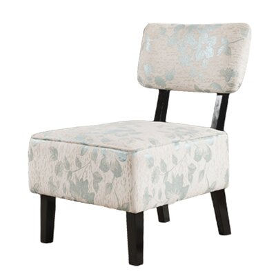 Athena Floral Slipper Chair