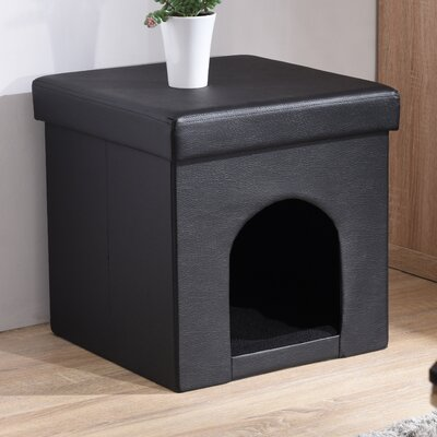 Brent Pet Ottoman Color: Black