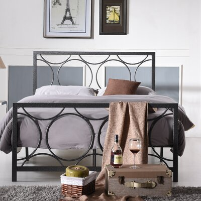 Alisha Panel Bed Size: Twin, Color: Charcoal
